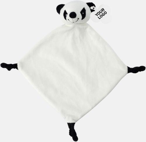 Panda Småfiltar med djurhuvuden - med reklamtryck