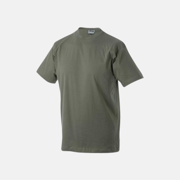 Olive Barn t-shirtar av kvalitetsbomull med eget tryck