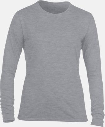 Sport Grey (dam) Långärmade funktionströjor för vuxna och barn med reklamtryck