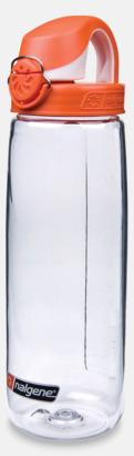 Transparent/Orange Enhandsvänlig vattenflaska