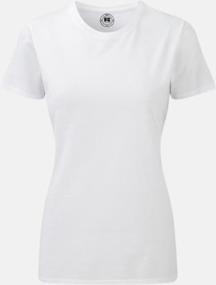 Vit (crew-neck) Sublimerings t-shirts med feminin passform - med reklamtryck