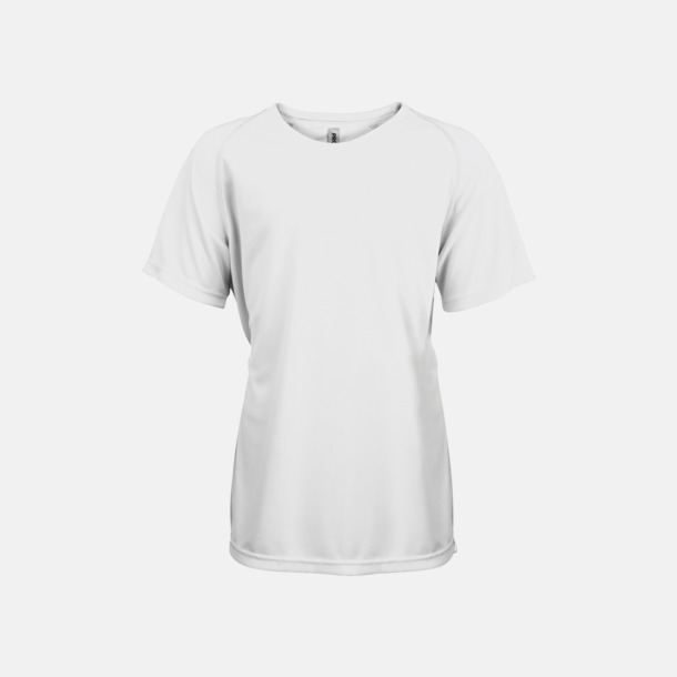 Vit Funktions t-shirts i många färger för barn - med reklamtryck