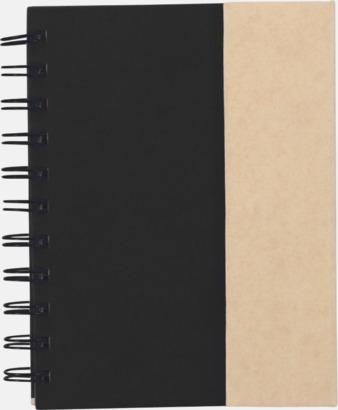 Svart Anteckningsblock och notisblock med markeringslappar