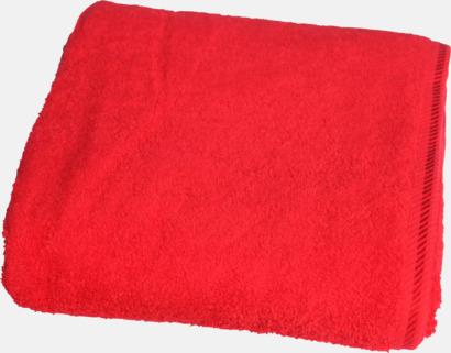 Fire Red Bomullshanddukar i 3 storlekar med reklambrodyr