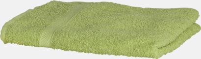 Limegrön Exklusiva handdukar med egen brodyr
