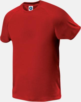 Röd (herr) Funktions t-shirts i herr- & dammodell med reklamtryck
