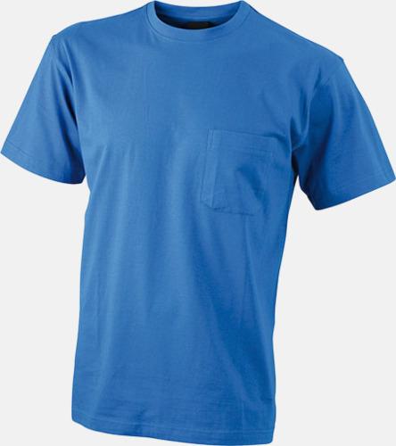 Royal T-shirts med bröstficka i matchande färg - med reklamtryck