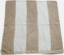 Randiga terry handdukar med reklambrodyr