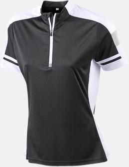 Svart (dam) Herr- och dam cykeltröjor med reklamtryck