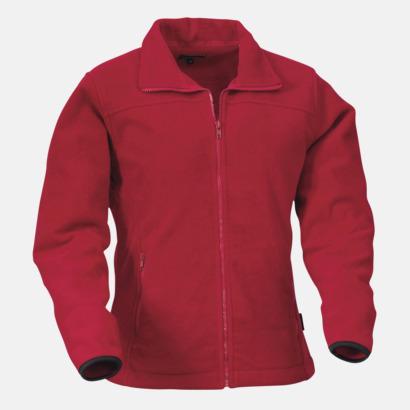 Röd Fleecejacka Plain med eget reklamtryck eller brodyr
