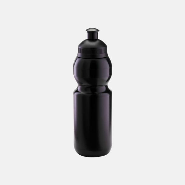 Svart (300 ml) Bulb-vattenflaskor i 4 storlekar med digitaltryck