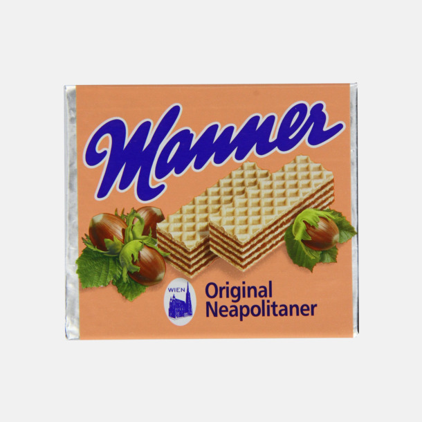 Original Neapolitan waferrån från Manner med reklamtryck