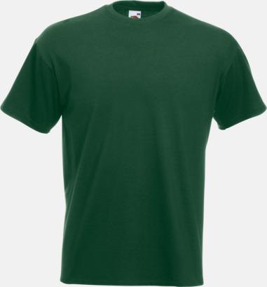 Bottle Green Kraftig t-shirt med reklamtryck