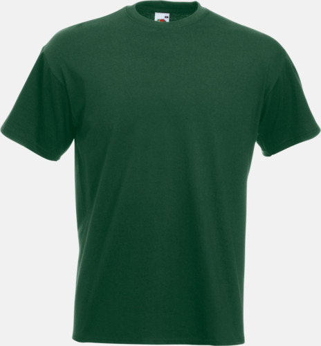 Bottle Green Kraftig t-shirt med reklamtryck
