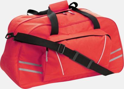 Röd Sportbags med reflexremsor - med tryck