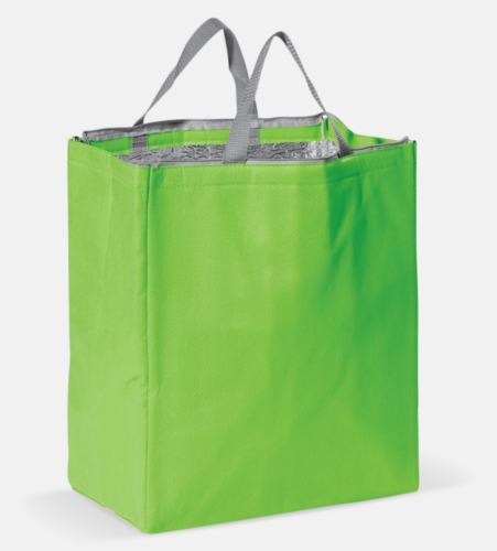 Ljusgrön Kylväska i non woven-material med reklamtryck