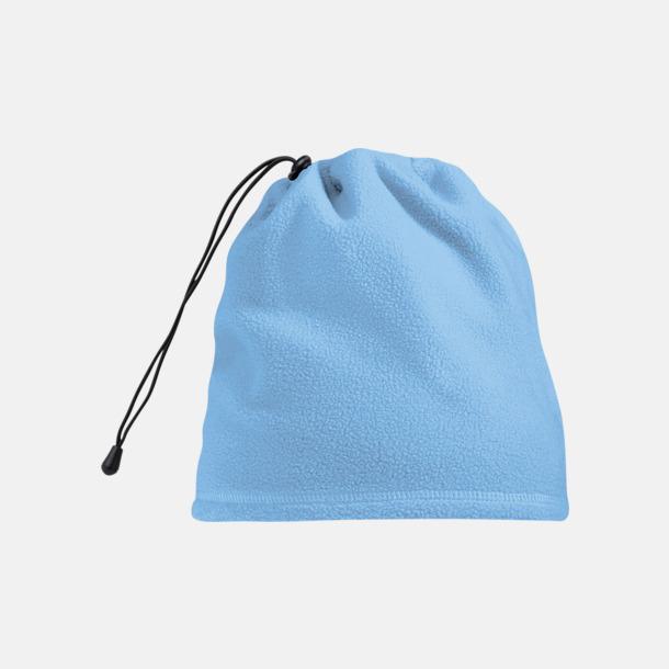 Sky Blue Mössa och halsduk i ett - med egen logo