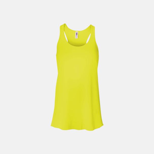 Neon Yellow (dam) Dam- & flicklinnen med racerback - med reklamtryck