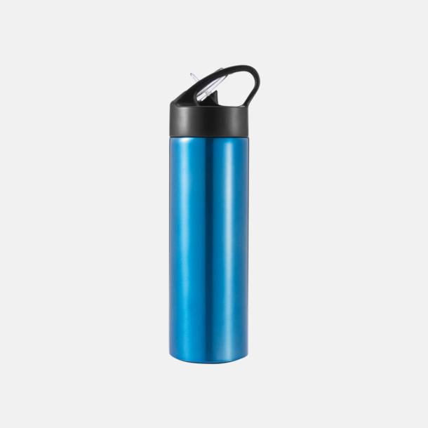 Blå Vattenflaskor av stål med eget tryck