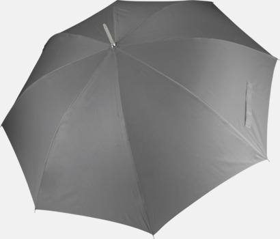 Slate Grey Tvåfärgade golfparaplyer med reklamtryck