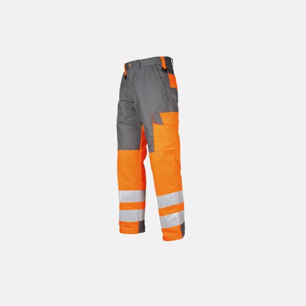 Orange Arbetsbyxor med reflexer Klass 3