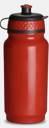 Röd Fin gymflaska med eget tryck