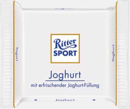 Yoghurt Chokladrutor från Ritter med rekalmtryck