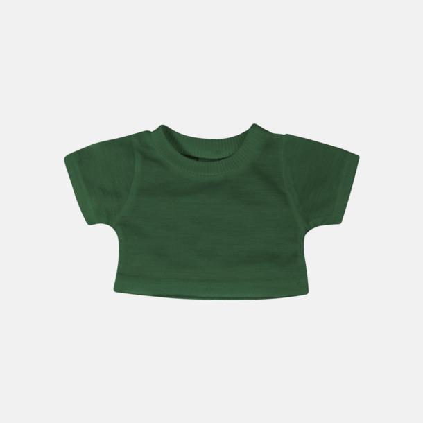 Bottle Green Enfärgade t-shirts för gosedjur - med reklamtryck