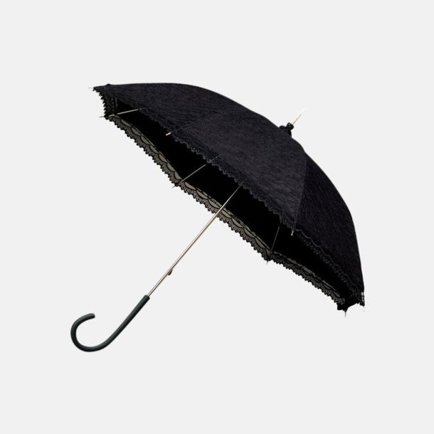 Svart Unika spets paraplyer med eget reklamtryck