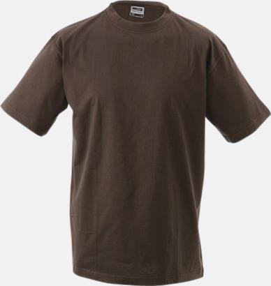 Brun Barn t-shirtar av kvalitetsbomull med eget tryck
