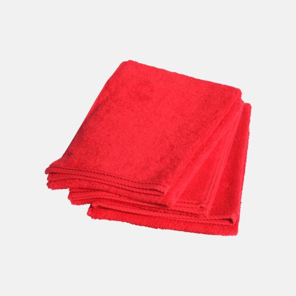Fire Red Mindre bomullshanddukar i många färger med reklambrodyr
