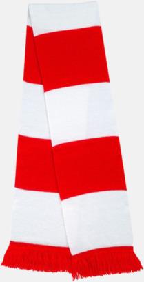 Röd / Vit Halsdukar i olika lagfärger med egen brodyr