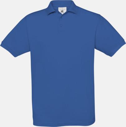 Royal Blue Kortärmade pikétröjor med egen brodyr