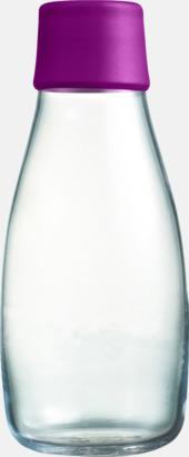 Purple Mindre vattenflaskor av glas med reklamtryck