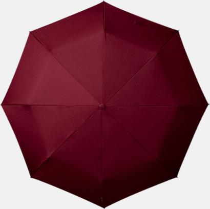 Mörkröd Paraplyer med tryck