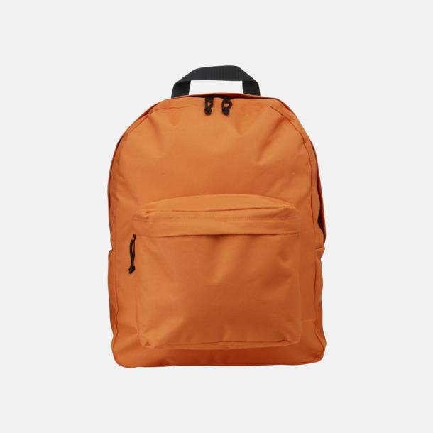 Orange Stilren och klassisk ryggsäck med reklamtryck