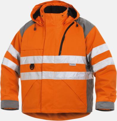 Orange Flexibel arbetsjacka för yrkesfolk