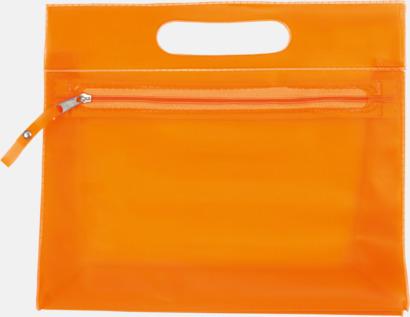 Orange Transparenta necessärer med tryck