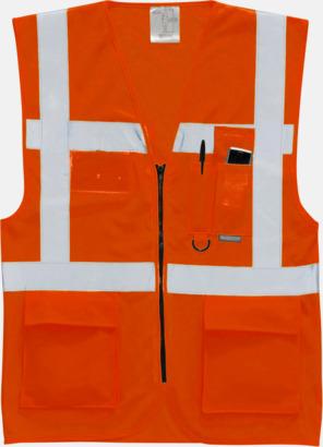 Hi-Vis Orange Varselvästar med 2-färgade modeller - med reklamtryck