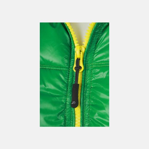 Grön/Gul (detalj) Herr- och damdunjackor med tryck