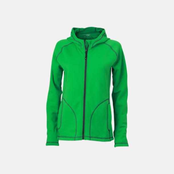 Fern Green/Carbon (dam) Figursydda herr- & damjackor i fleece med reklamlogo