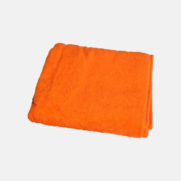 Bright Orange Bomullshanddukar i 3 storlekar med reklambrodyr