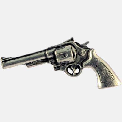 Revolver Engelska, handgjorda broscher med jaktmotiv