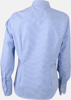 Bomullslusar & -skjortor med fina rutor - med reklamtryck