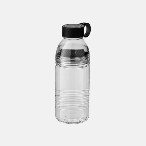 Svart/Grå Vattenflaskor med fruktsilar - med reklamtryck