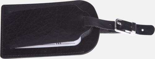 Bagagebrickor i läder från Mauro Conti - med reklamtryck