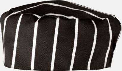 Black-White stripe Kockmössor i många färger med reklamtryck
