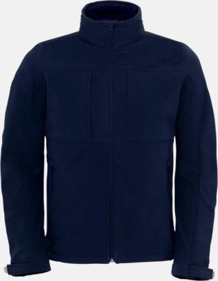 Marinblå (herr) Softshell-jackor för vuxna och barn - med reklamtryck