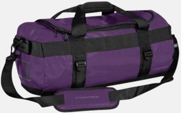 Lila/Svart 35 liters-väskor med reklamtryck
