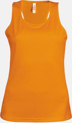 Orange Linnen av funktionsmaterial med reklamtryck